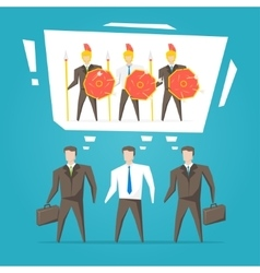 Teamwork business team vector image