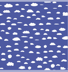 white cloud seamless pattern vector image vector image