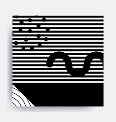 Black and white neo memphis geometric pattern vector
