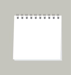 simple organizer  template of blank page note pad vector image