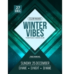 Dance party dj battle poster design winter disco vector