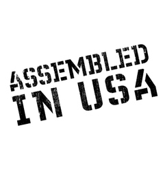 Assembled in usa rubber stamp vector