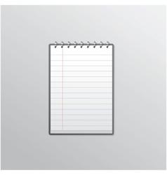 Notebook smartphone UI vector image