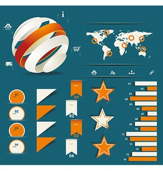 Retro infographics set vector