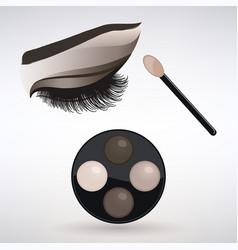 Make-up applying eye shadow vector