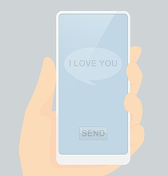 I love you message ready for send vector