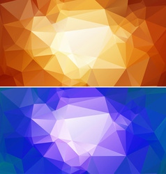 Polygon paper backgrounds 02 vector