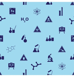 Chemistry icons blue pattern eps10 vector