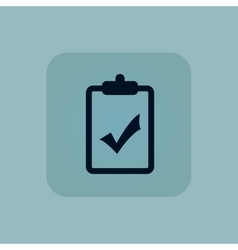 Pale blue clipboard yes icon vector