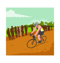 Cyclist racing wpa vector