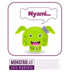 A monster saying nyami vector