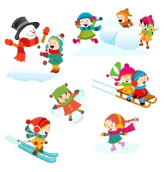 Winter games vector