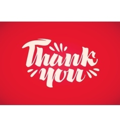 Thank you handwritten inscription vector