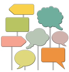 Collect speech bubbles vector