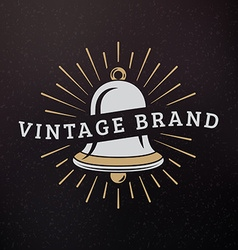 Bell vintage retro design elements for logotype vector