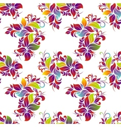Bright floral seamless vector