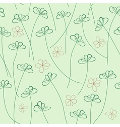 Hands Draw Floral Seamless Pattern vector image