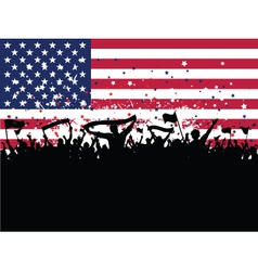 American party crowd vector
