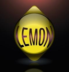 Vertical glass lemon blue text logo vector