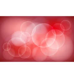 Abstract red blur bokeh background vector image vector image