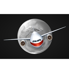 An airplane travelling around the globe vector