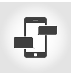 Black text messaging icon vector