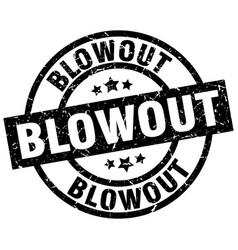 Blowout round grunge black stamp vector