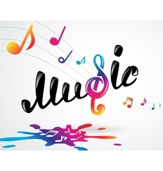 Colorful music logo on white vector image