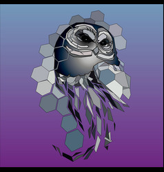 Design owl vector