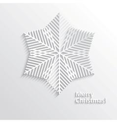 Design Snowflake vector image vector image
