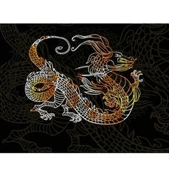 Dragon on dark background vector