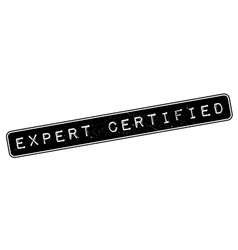 Expert Certified rubber stamp vector image
