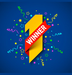first winner first place vector image