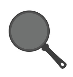 frying pan kitchenware utensilflat style vector image