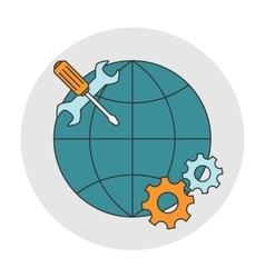Global technical support vector
