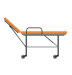 Gurney wheeled stretcher used for transporting vector