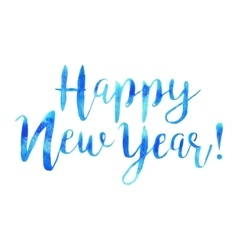 Hand drawn isolated text happy new year in vector