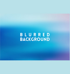 Horizontal wide blue sky blurred background vector