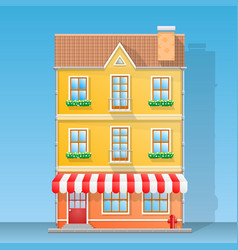 house shop flat vector image