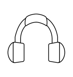 isolated headphones icon image vector image