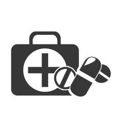 kit medical box vector image vector image
