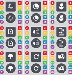 Mailbox moon flower media file sound smartphone vector
