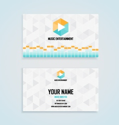 Music entertainment name card template vector