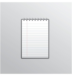 Notebook smartphone UI vector image