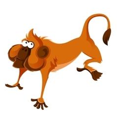 Orange cartoon monkey vector image vector image