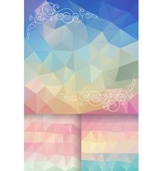 Poligon Background vector image