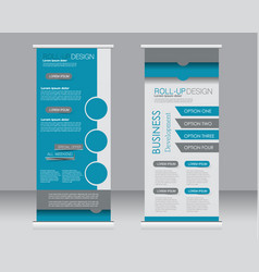 Roll up banner stand template vector