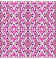 Seamless pattern in pink with arches and lozenges vector image vector image