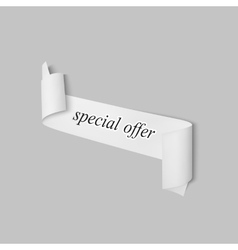 Special offer sign paper banner ribbon vector image vector image