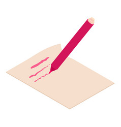 Write felt-tip pen icon isometric 3d style vector